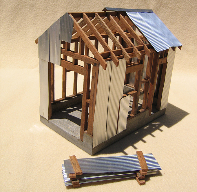 Tin Coated Mild Steel Roofing on Scale House Model