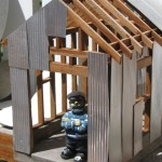 Tin Industrial Bird House